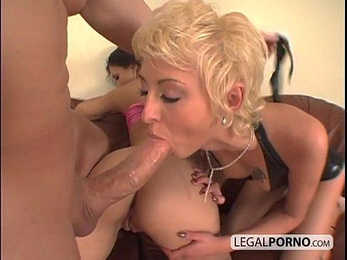 Gangbang slut suck dick and anal