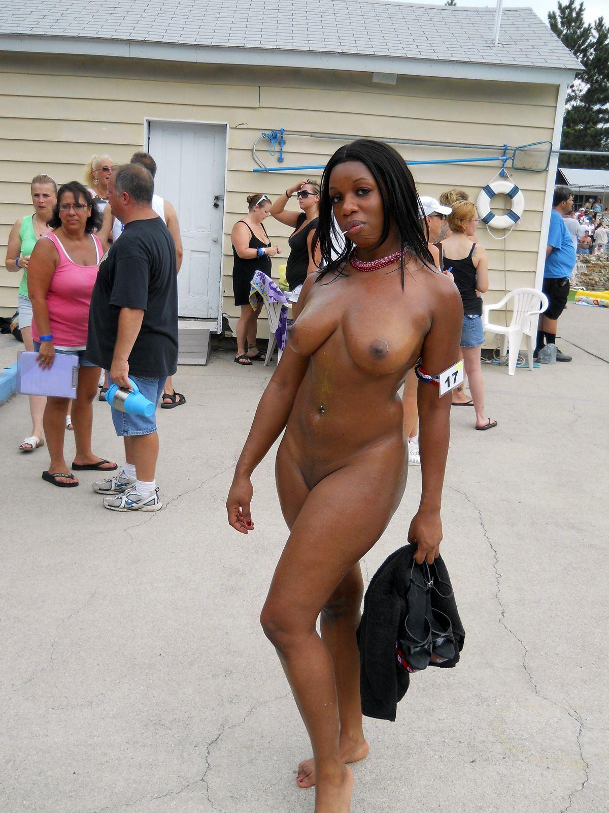 Punkin reccomend Nude ebony on beach