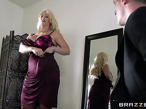 Mature horny mother and son