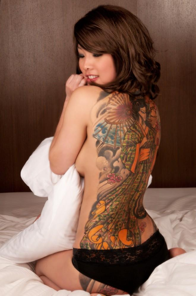 best of Tattoos with asian Nude women