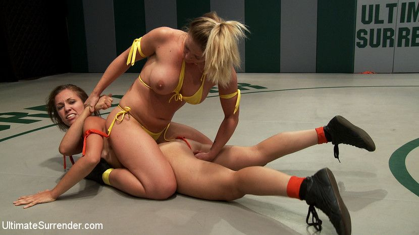 Female submission wrestling loser gets fucked