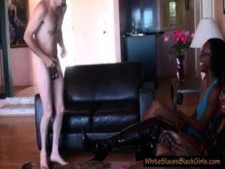 Leather reccomend black humiliation white slave