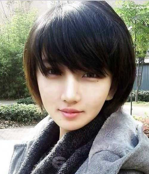 best of Cut hair Asian girl
