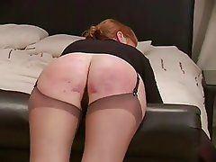 Mature spanking