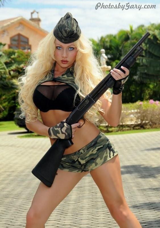 Girls posing with guns nude