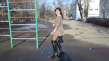 best of High boots Femdom in thigh