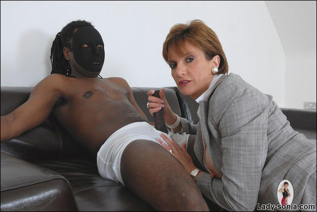 best of Woman handjob interracial bdsm penis and