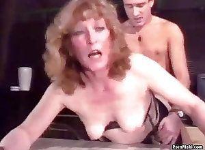 Vintage granny anal