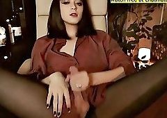 Gully recomended pantyhose white masturbate penis load cumm on face