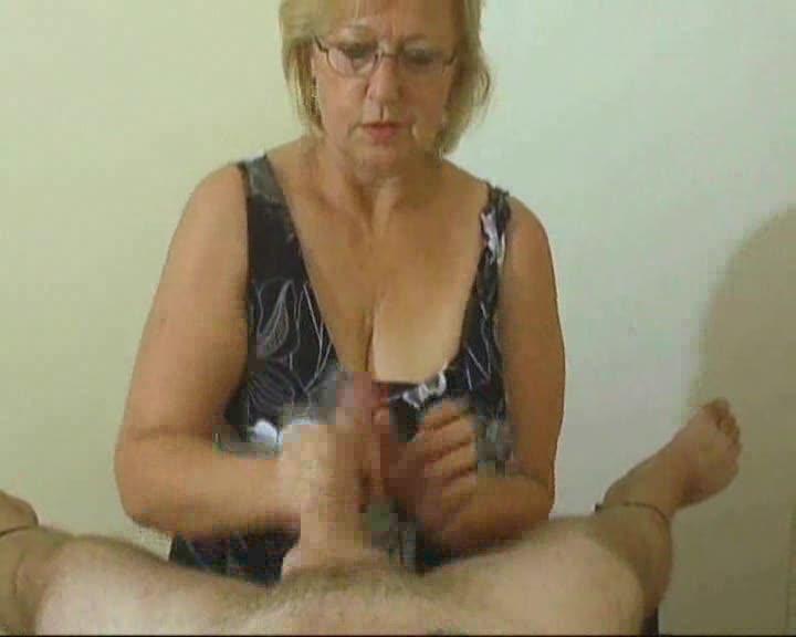 Granny handjob cumshot