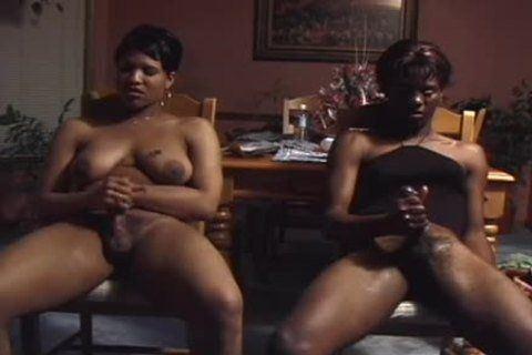 best of Load masturbate face ebony on transgender cumm cock