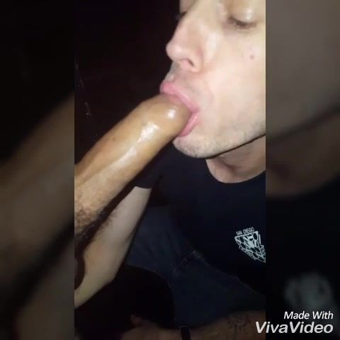 Nightclub toilet blowjob