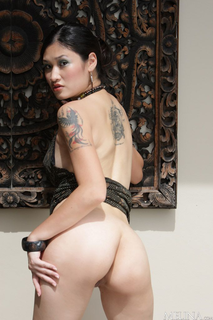 Nude asian women with tattoos