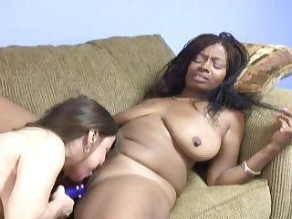 Interracial lesbian mature dildo
