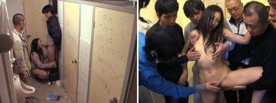 best of Gangbang toilet