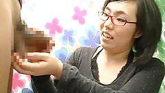 Sexy japanese masturbate penis slowly
