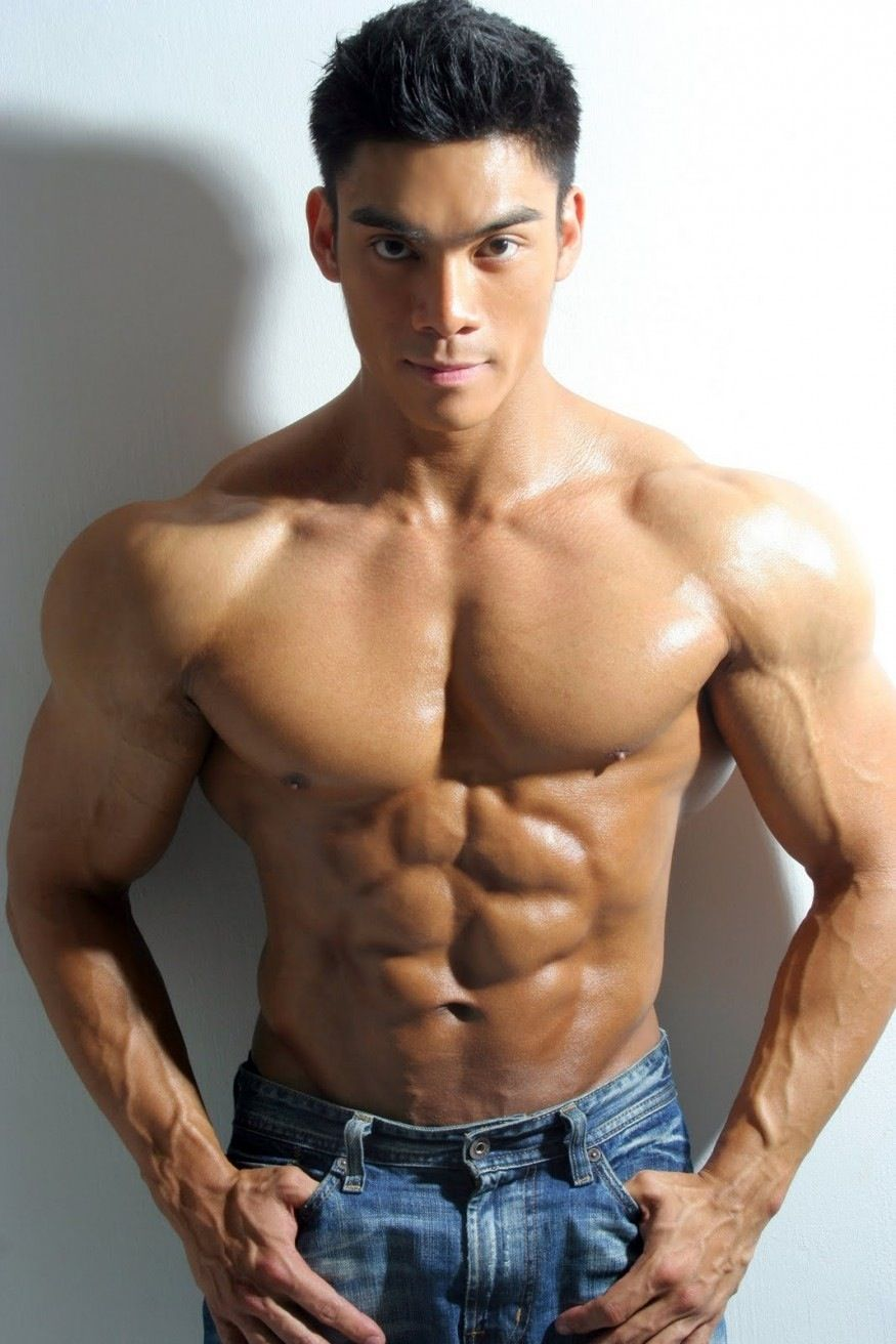 Young asian hunk nude
