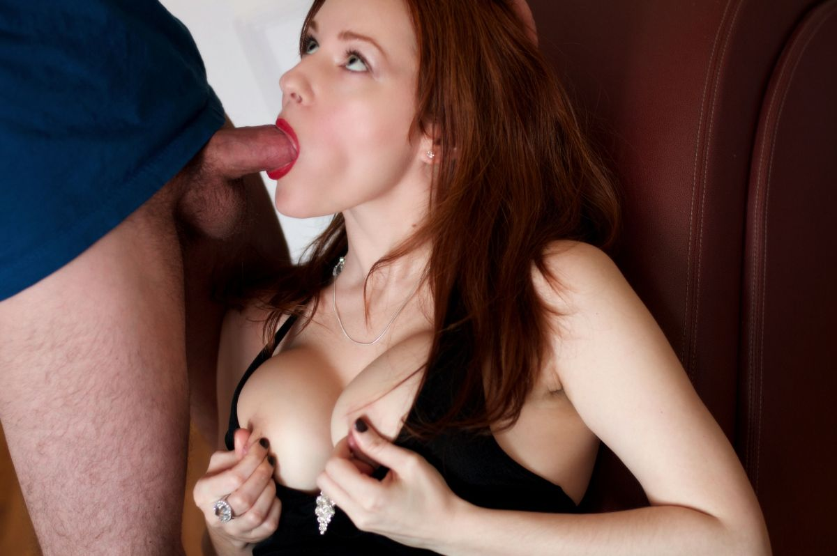 Deep sensual blowjob