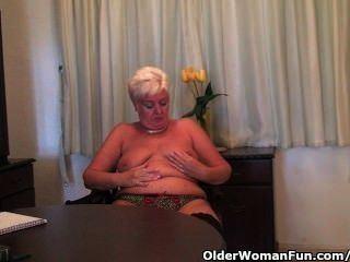 best of Masturbating shaved granny