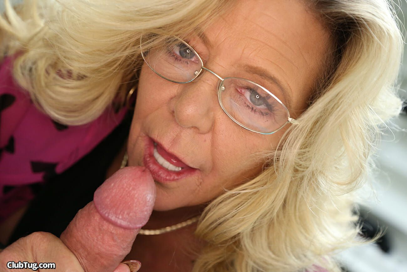 best of Handjob mature and facial cock woman
