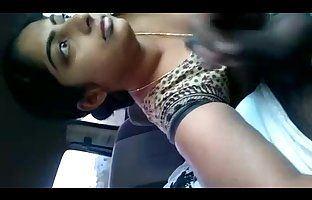 Indian girlfriend car blowjob