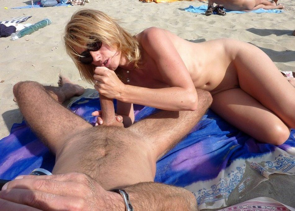 Nude naked suck cock on beach