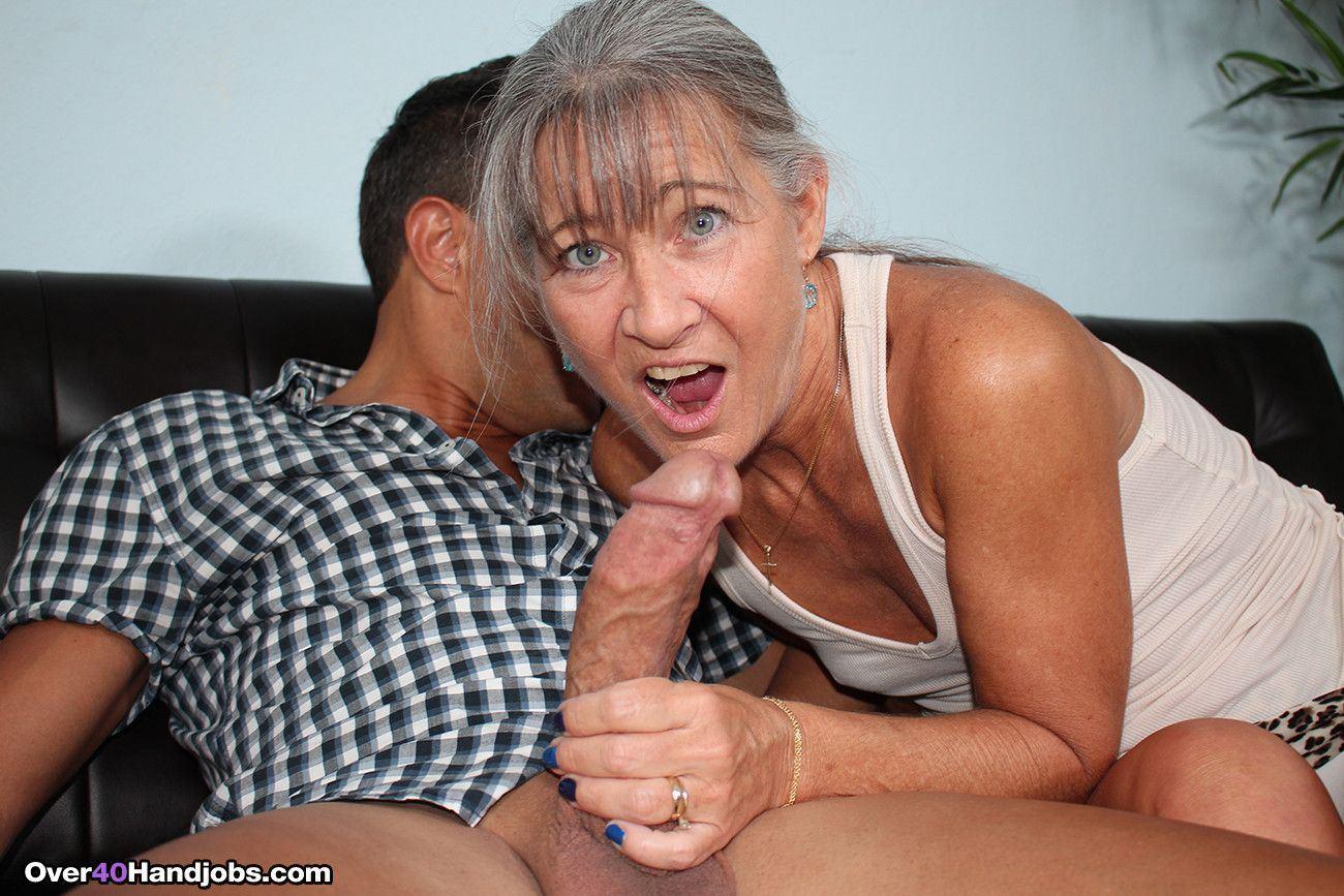 best of Jerking cock granny