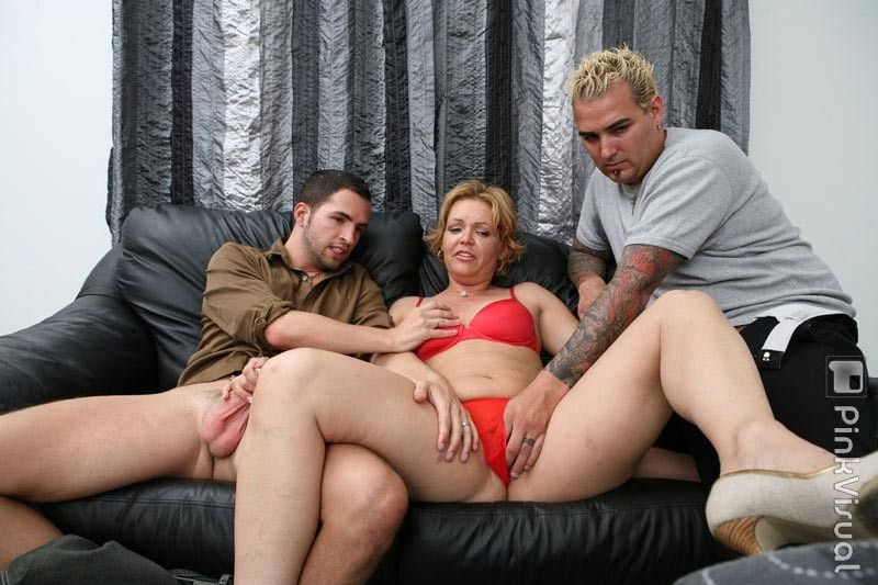 Horny mature 3some