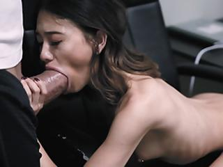 Howitzer reccomend tiny brunette huge white cock