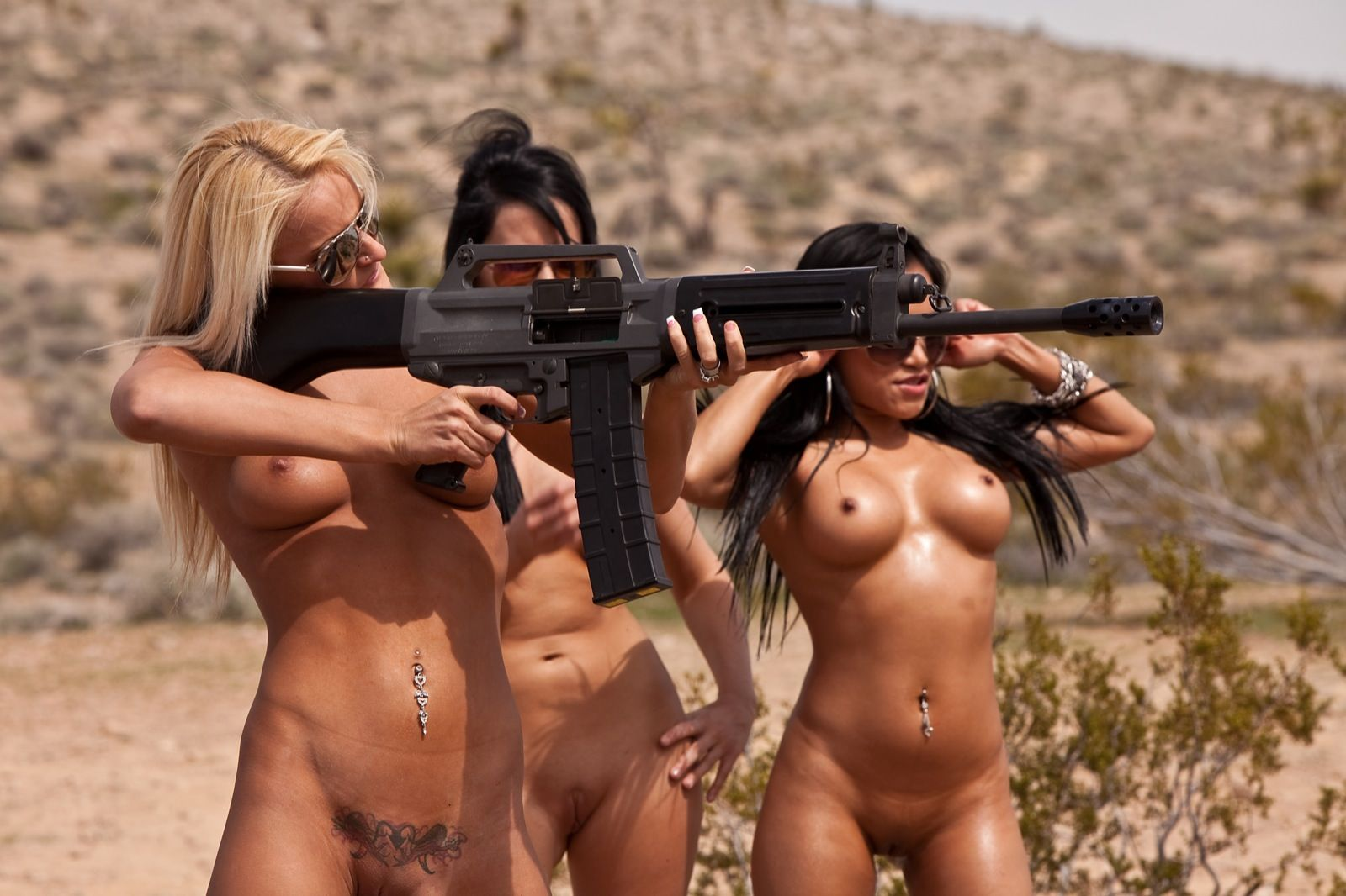 Offense reccomend posing with guns nude girls