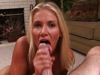 Hot blonde blowjob