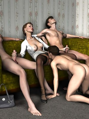 Ribeye reccomend 3d group sex