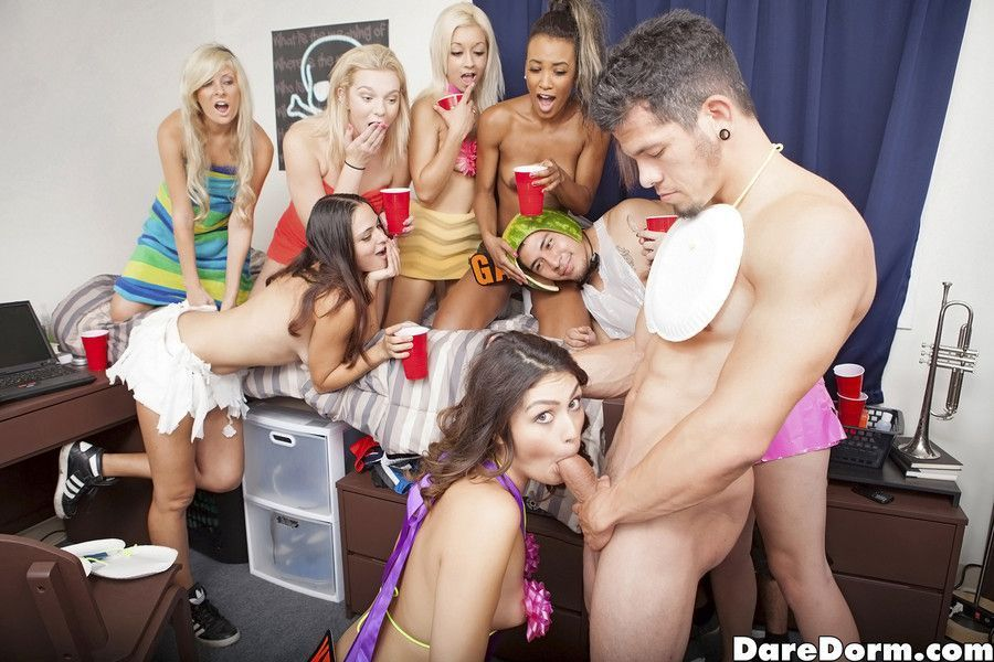 Coed dorm party