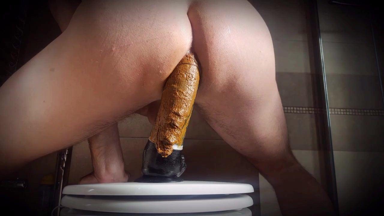 Toilet paper dildos