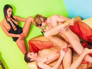 Rummy reccomend Bare back bisexual creampie 03