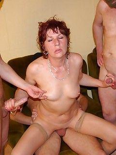 best of Mature gangbang Free wife
