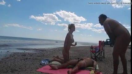 best of Cock girl beach on suck african nudist