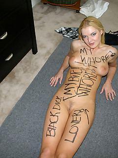 Blonde slut spread