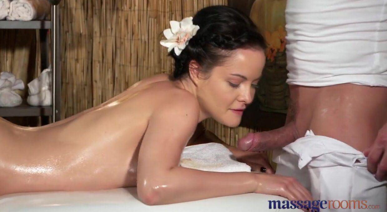 Brunette natural orgasm