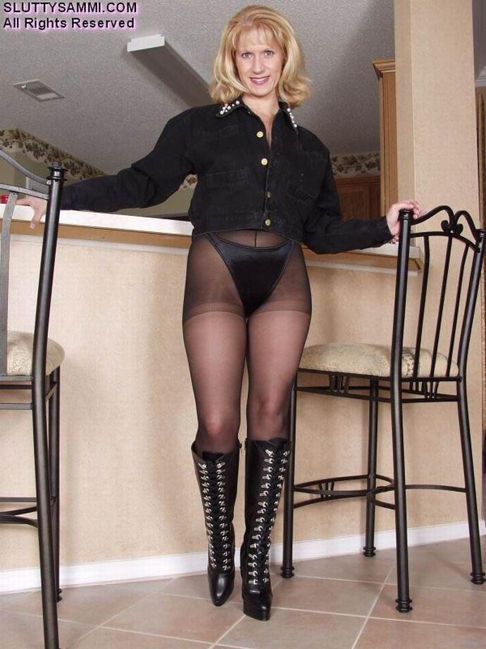 best of Fetish Mature nylon tights