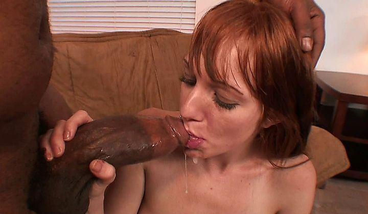 Redhead whore suck cock and fuck
