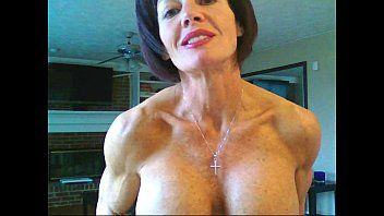 Mature female natural biceps