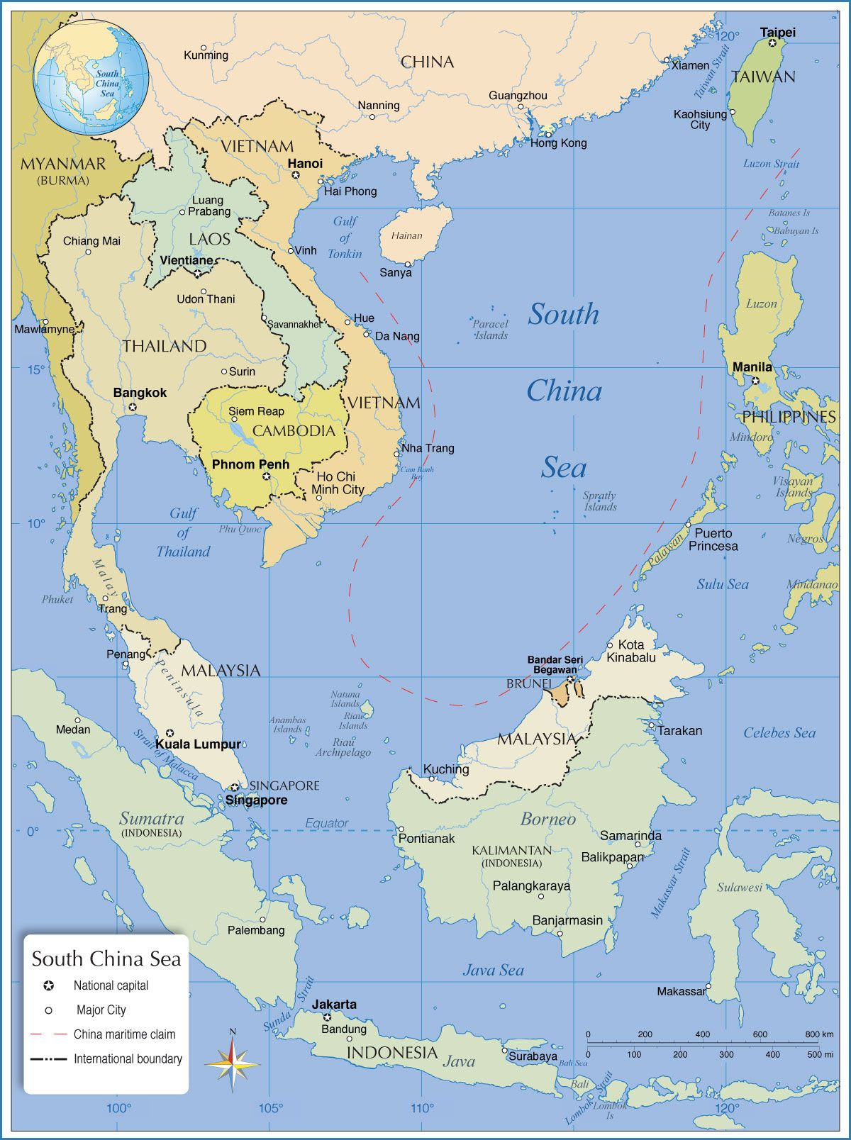 Asian region map