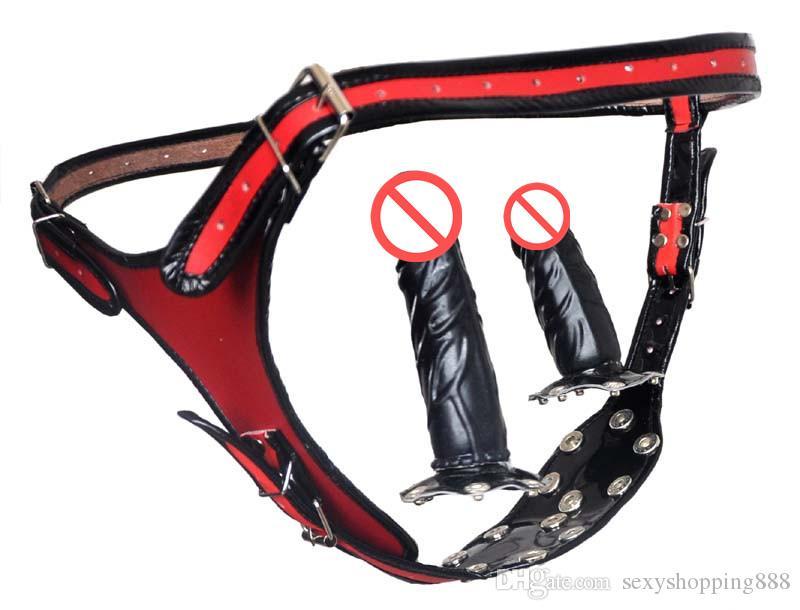 Handmade bicycle shorts dildo harness