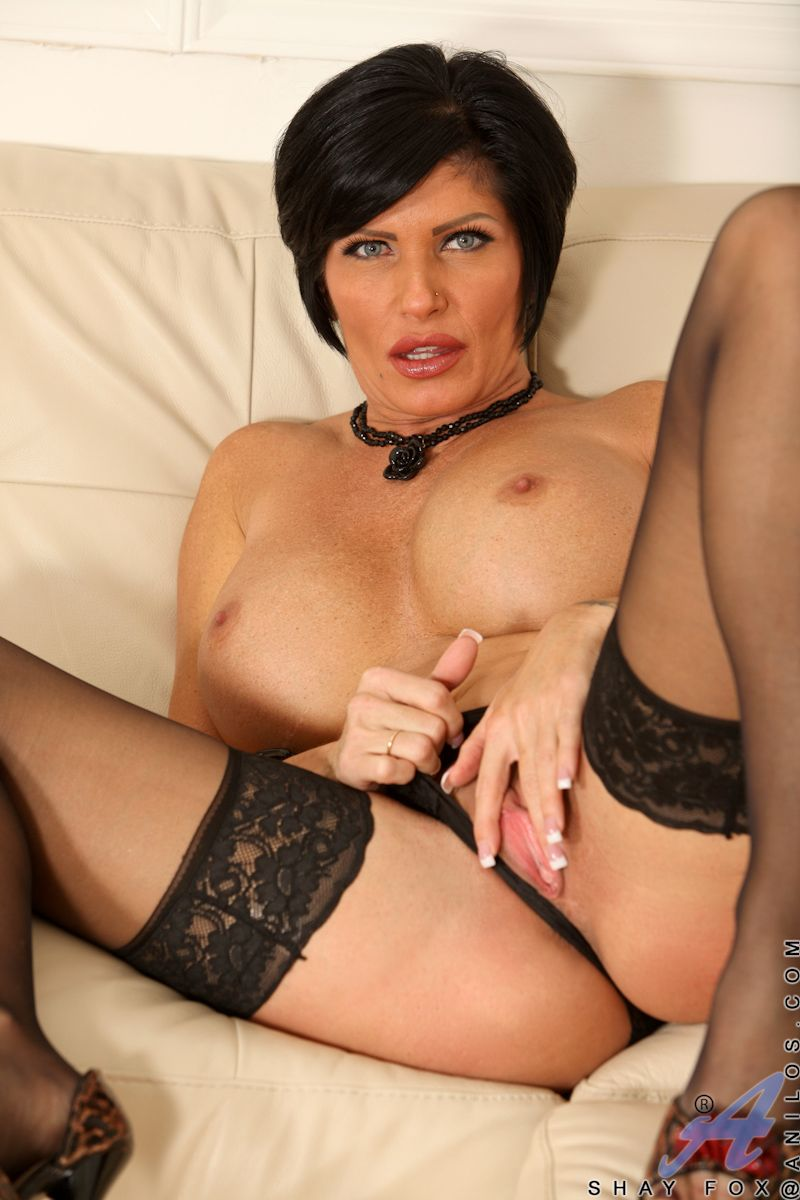 Black haired mature beauty