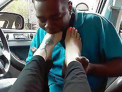 best of Sucking public toe