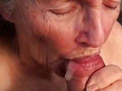 Cum mouth granny