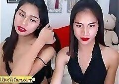 Female twins handjob penis and anal