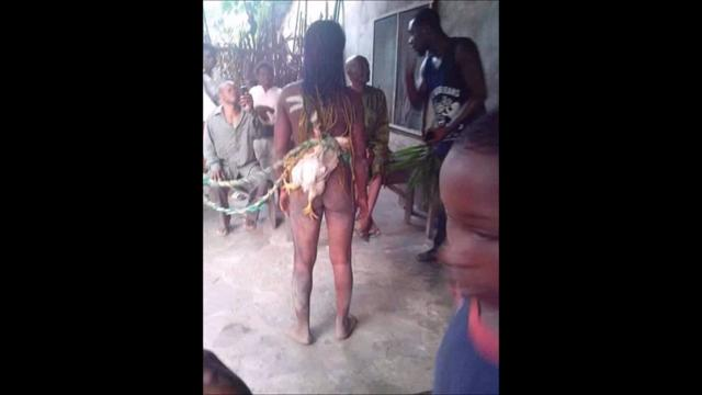 Stripped paraded fucked by girls