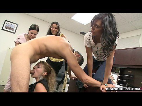 Brandi belle office handjob